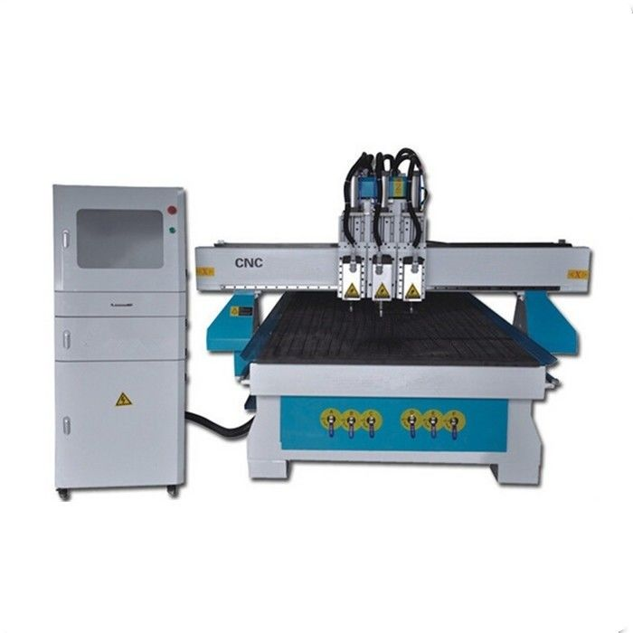 Dsp 6KW Water Cooling Spindle Cnc Router Woodworking Machine 3 Head High Speed